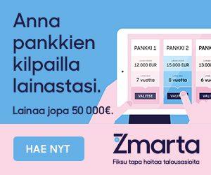 Halvinta lainaa heti tilille löytyy nopeasti Zmartalta.