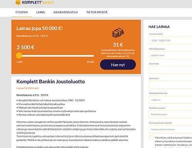 Komplett Bank Suomi on varma joustoluotto.