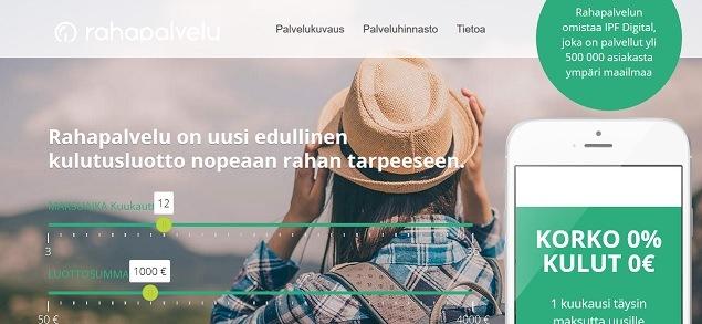 Rahapalvelu.fi lainaa joustoluottoa heti tilille 4000 euroon asti.